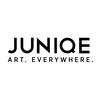 Juniqe logo white box tagline %281%29