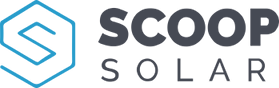 Scoop solar logo charcoal and blue small 2