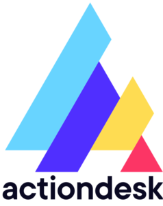 New logo blue font